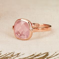 14k rose gold with rose quartz. A simple and beautiful gift. Regularly $495. On sale for $375. Plus, save an additional 30% off the sale price with this coupon code: MISTLETOE17