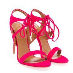 Aquazzura Suede Colette Sandals (405 CAD) ❤ liked on Polyvore featuring shoes, sandals, heels, aquazzura, suede shoes, heeled sandals, suede leather shoes and suede sandals
