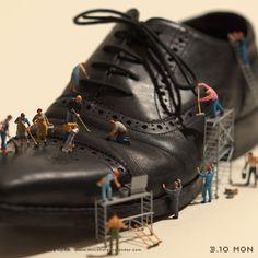Miniature Photography: Shoeshine