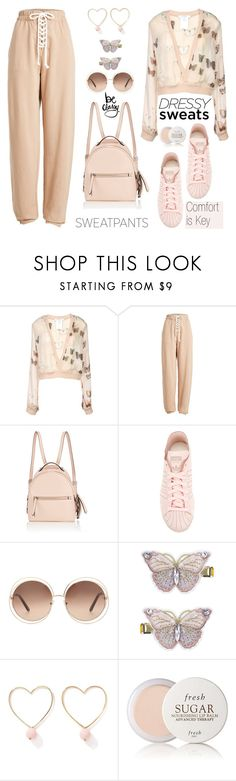 """Comfort is Key: Sweatpants"" by nicolevalents ❤ liked on Polyvore featuring Givenchy, Puma, Fendi, adidas, Chloé, Monsoon, Ana Accessories and Fresh"