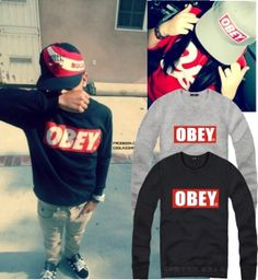 2013 Autumn Winter Cheap OBEY hoodies Fall winter hiphop o-neck pullover sweatshirts for women men Plus size M - XXXXL clothing $15.99 - 16.99