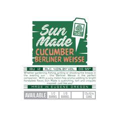 Sun Made Cucumber Berliner Weisse Oakshire Brewing Evening Sun, Best Beer, Honeydew, Brewery, Cucumber, Zucchini