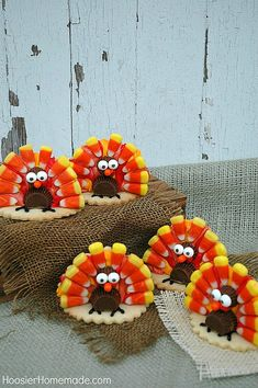TURKEY COOKIES FOR T