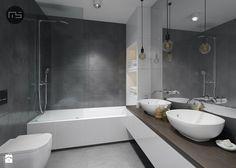 Mieszkanie M3 - Średnia łazienka w bloku bez okna, styl minimalistyczny…