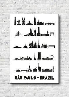 Resultado de imagem para tattoo cidade sao paulo skyline