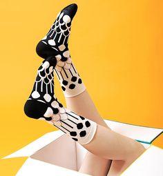 YU SQUARE ごきげんになる靴下 Fountain Black ユニセックス