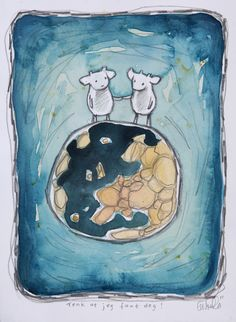 Gunilla Holm Platou: Paintings on paper