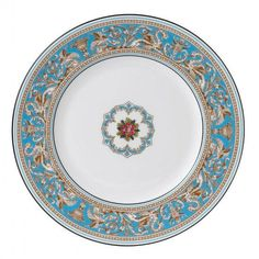 Wedgwood 'Florentine Turquoise' - Our Favorite Blue and White China Patterns  - Southernliving. Buy It: $64 for dinner plate; amazon.com