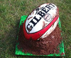 Another request for the mud splattered rugby ball cake i have made previously. painted/lettered freehand all edible xx Amazing Wedding Cakes, Amazing Cakes, Rugby Cake, 30 Birthday Cake, Birthday Ideas, Teen Birthday, 18th Cake, Dad Cake, Sport Cakes