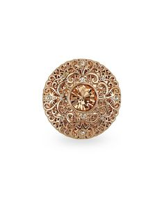 Another great find on #zulily! Rose Gold & Crystal Round Filigree Ring by Amabel Designs #zulilyfinds