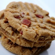 Peanut butter bacon cookies.  Of course now I find all these good recipes AFTER our family Xmas cookie swap and my unfortunate submission of compost cookies (didn't turn out anything like Momofuku's)