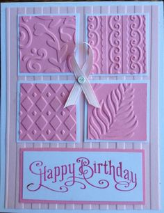 Stampin up Breast Cancer survivor Birthday Card by trudy