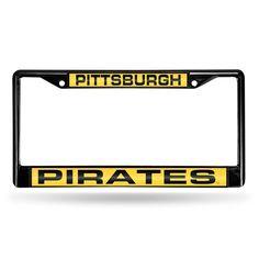 Pittsburgh Pirates MLB Laser Cut Black License Plate Frame