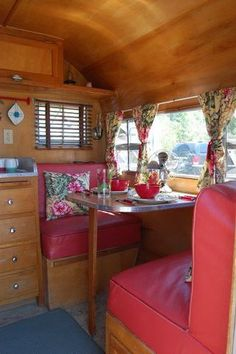 vintage travel trailer...all birch interior like mine.  I will have to start from scratch on cushions, however...not sure yet what I will cover them with.