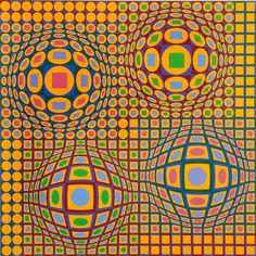 Victor VASARELY - QUADRATURE 78.00 x 78.00 cm