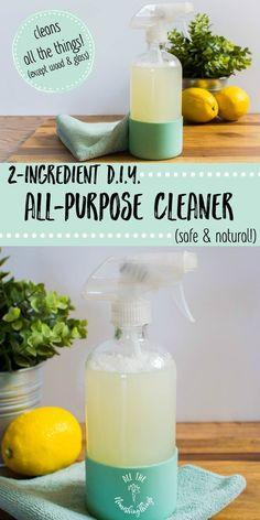 2 Ingredient DIY All Purpose Cleaner (safe U0026 Natural!)