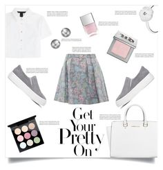 """""""Grey Floral Skirt"""" by simona-risi ❤ liked on Polyvore featuring Marc by Marc Jacobs, Michael Kors, Pandora, Journee Collection, Urban Decay, MAC Cosmetics, Nails Inc., Oris, michaelkors and mac"""