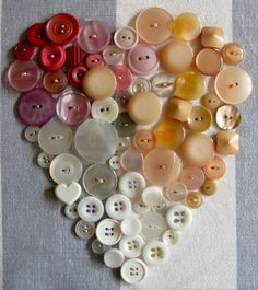 button heart; I've done this in an album; so dramatic and gets rave reviews from all who see it