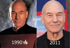 Clearly he's a Time Lord. Lookin' good, Captain Picard.