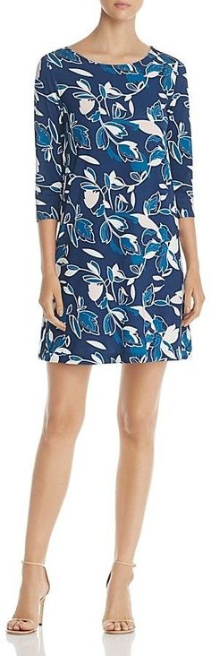Yumi Kim Alice Leaf Print Shift Dress Branch out your shift dress collection with Yumi Kim's colorful jersey number in a foliage-infused print. Affiliate