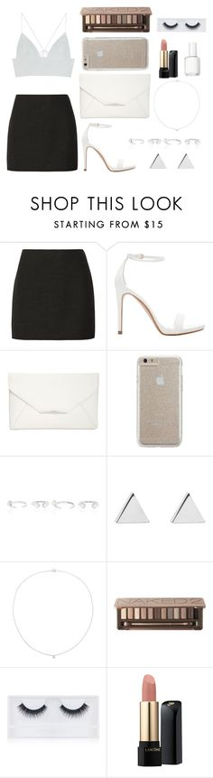 """Fancy White & Black"" by alex2211 ❤ liked on Polyvore featuring Alice + Olivia, Zara, Style & Co., Case-Mate, Cornelia Webb, Jennifer Meyer Jewelry, Sole Society, Urban Decay, Georgie Beauty and Lancôme"