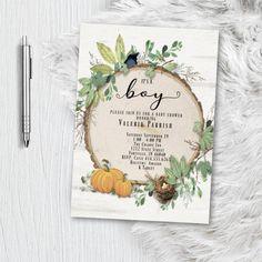 Photo Invitations, Printable Invitations, Invitation Design, Birthday Invitations, Wedding Invitations, Rustic Baby, Rustic Theme, Diaper Raffle Tickets, Baby Shower Fall