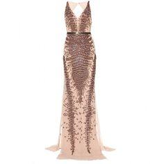 Roberto Cavalli Embellished Silk-Chiffon Dress found on Polyvore