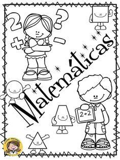 Matemática Art Activities For Kids, Math Activities, School Book Covers, Mathematics Geometry, School Labels, School Clipart, School Notebooks, Bilingual Education, Classroom Language