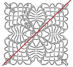 Crochet beautiful and delicate top. Free patterns for crochet top Crochet Stitches Chart, Crochet Square Patterns, Crochet Blocks, Crochet Diagram, Doily Patterns, Crochet Squares, Crochet Motif, Crochet Designs, Stitch Patterns