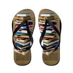 cfe8dcf8e54a06 Gail Gabel LLC  Book Lovers Flip Flops Flip Flops  Unique Book Lovers Gifts