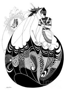 Armenian Butterfly Lady -- Pen & ink drawing by Shelagh Watkins