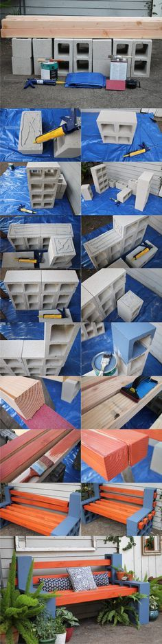 Diy: Outdoor Bench from Concrete Blocks & Wooden Slats 2019 Diy: Outdoor Bench From Concrete Blocks & Wooden Slats Patio & Outdoor Furniture The post Diy: Outdoor Bench from Concrete Blocks & Wooden Slats 2019 appeared first on Patio Diy. Backyard Projects, Outdoor Projects, Backyard Ideas, Banco Exterior, Diy Exterior, Cinder Block Bench, Cinder Blocks, Diy Terrasse, Diy Patio