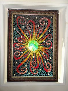 Black Sun Mosaic Original by StayCsStainedGlass on Etsy, $800.00