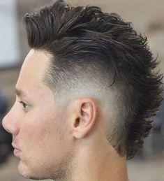 Fohawk Haircut Fade, Mullet Haircut, Taper Fade Haircut, Mullet Hairstyle, Roll Hairstyle, Haircut Men, Hairstyle Ideas, Hair Ideas, Long Messy Hair