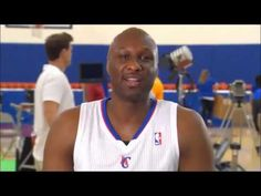 Lamar Odom Makes Mistake During Interview   Lamar Odom of the Los Angeles Lakers