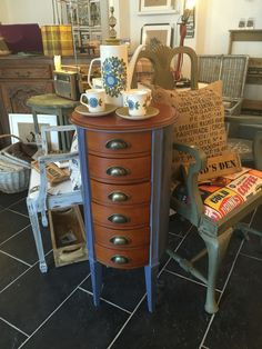 Retro style cabinet and coffee set