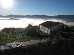 Niebla matutina en el fondo del valle