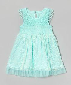 Mint Lace Peter Pan Collar Dress - Infant, Toddler & Girls