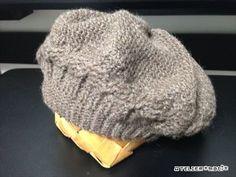 【編み図】かぎ針で編むなわ編みベレー帽 – かぎ針編みの無料編み図 Atelier *mati*