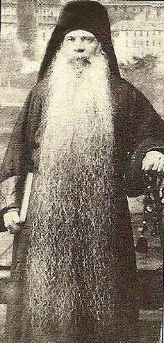 Papa Aaron the Long-Bearded of Mount Athos Circa 1910