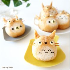 Totoro & Rilakkumar inari sushi by satomi (@satomi_0819)
