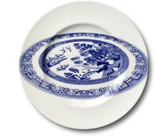 willow pattern plate on a plate by Robert Dawson Aesthetic Sabotage