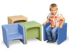 Calming Colors® Chair Cubes - Set of 4 at Lakeshore Learning $199.50/ set of 4. Also available in primary colors.