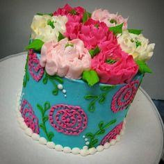 Ribbon Flower Buttercream Birthday Cake – Blue Sheep Bake Shop