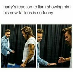 Liam is like.. Feel the pain bro. Then that were Harry's reaction.