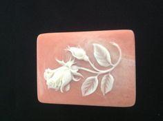 Vintage 1974 Incolay Stone Rose Trinket Box by VintageVelvetBox, $9.99