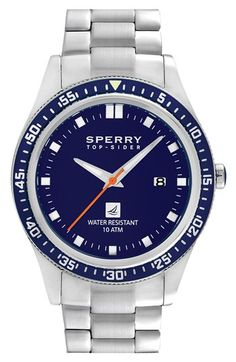 Sperry Top-Sider® 'Navigator' Bracelet Watch, 44mm | Nordstrom