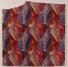 Fry, Roger. Margery, 1913. Block printed linen furnishing fabric. Accession number T.386-1913 at the Victoria and Albert Museum.