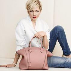 Michelle Williams for Louis Vuitton handbag campaign - nude coloured handbag - new designer bag - celebrity handbags - handbag.com