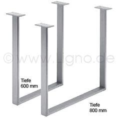Tischgestell 600/725 mm, Edelstahl gebürstet 139 €/Stk